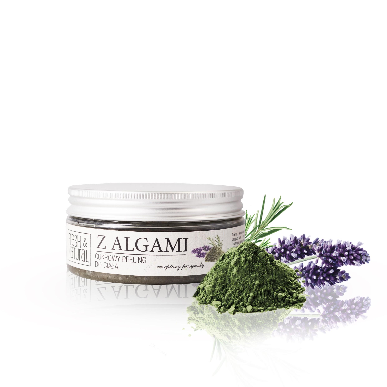 Cukrowy peeling do ciała Z ALGAMI 250 g