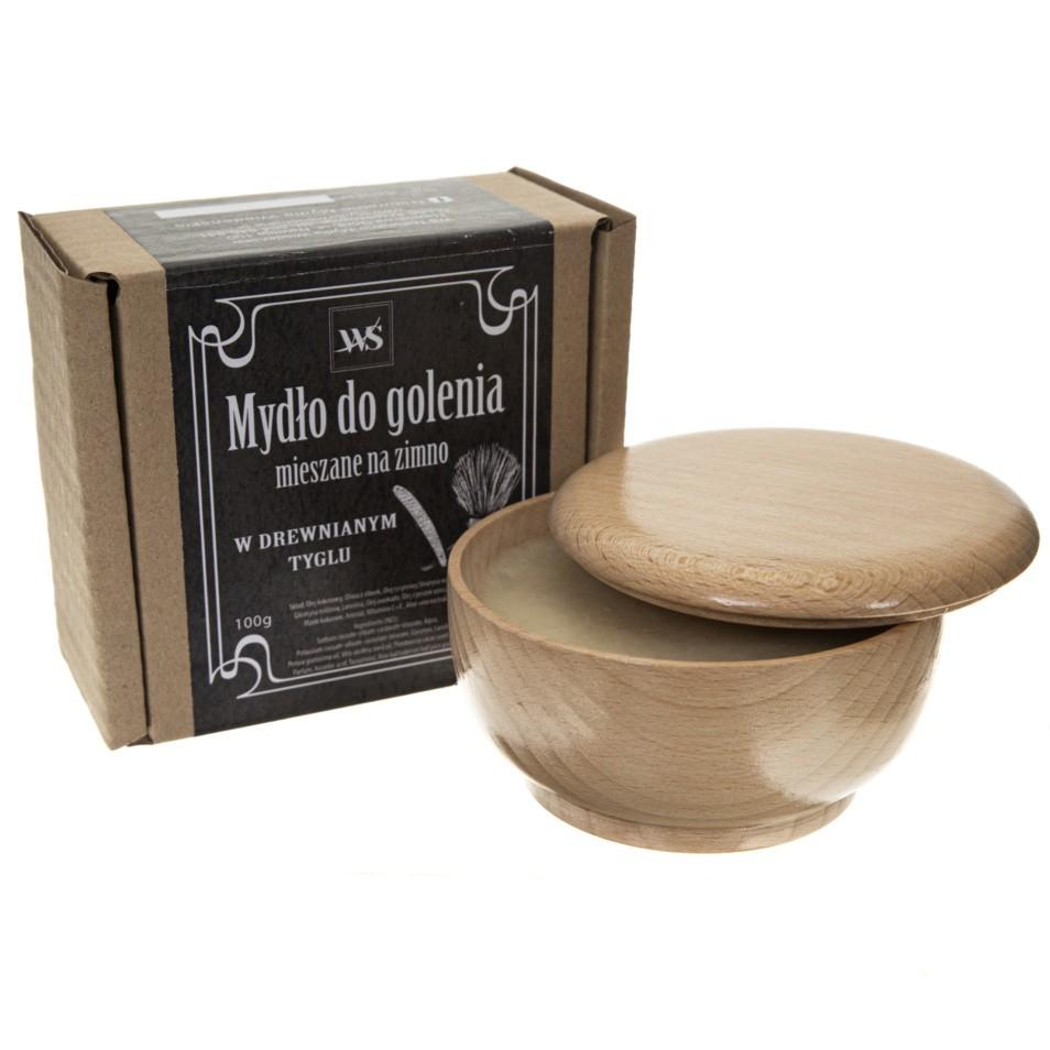 Naturalne mydło do golenia w drewnianym tygielku - Mydła Wiedeńskie