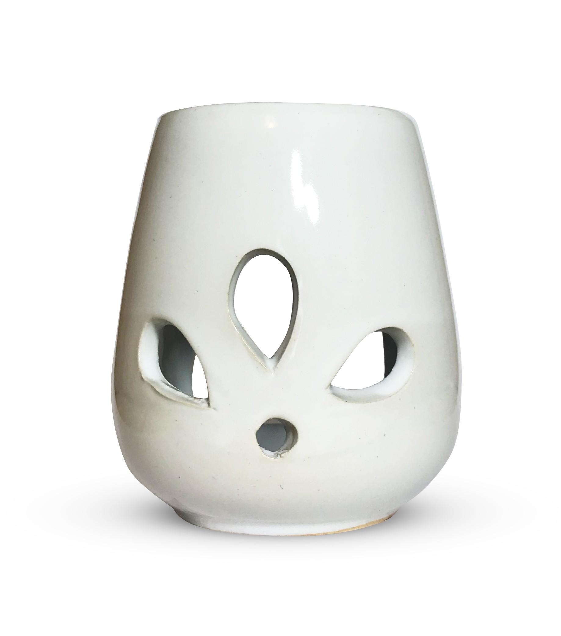 Kominek do wosku - biały