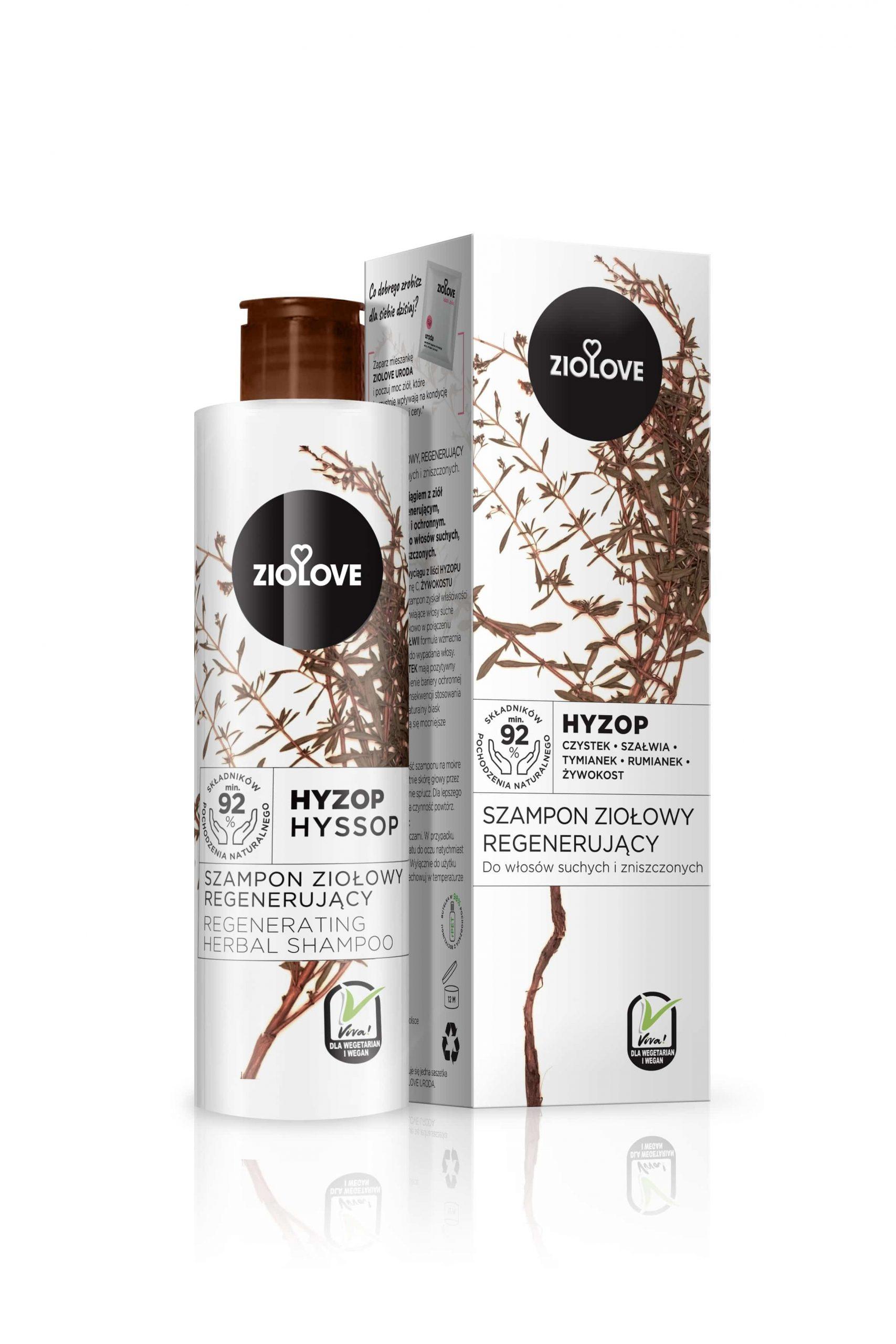 Szampon ziołowy Hyzop - Ziolove